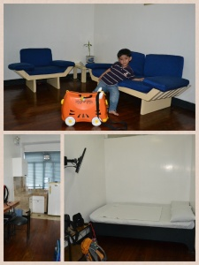 Our room in Makati Appartelle