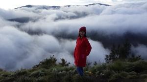 Pemandangannya ketutup kabut