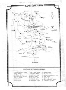 Map of Tana Toraja --- sorry udah lecek