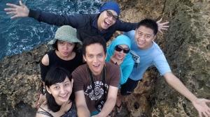 Selfie di tebing