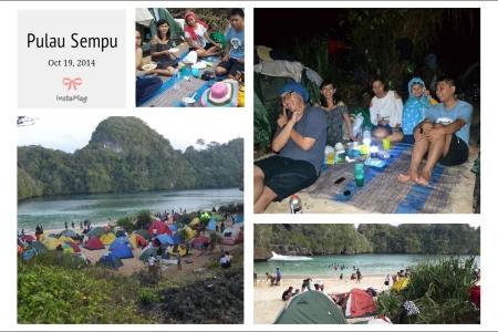 Camping seru di Sempu