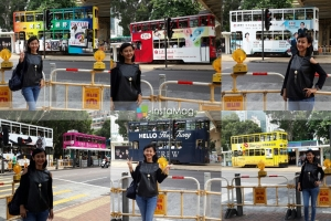 Warna-warni tram di Hong Kong